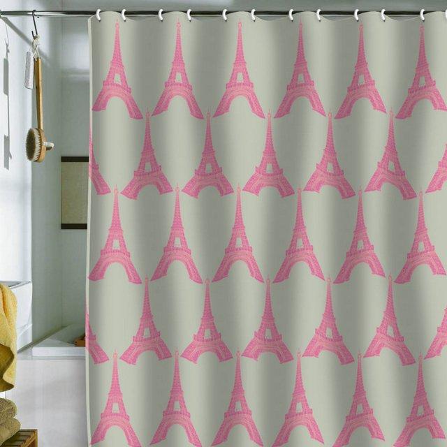 Bianca Oui Oui Shower Curtain, Pink