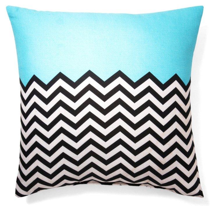 Retro 20x20 Outdoor Pillow, Blue