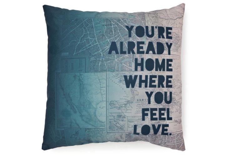 """Home"" 20x20 Pillow, Multi"