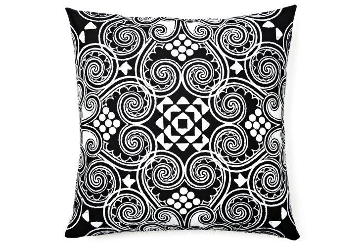 Decographic 20x20 Pillow, Black