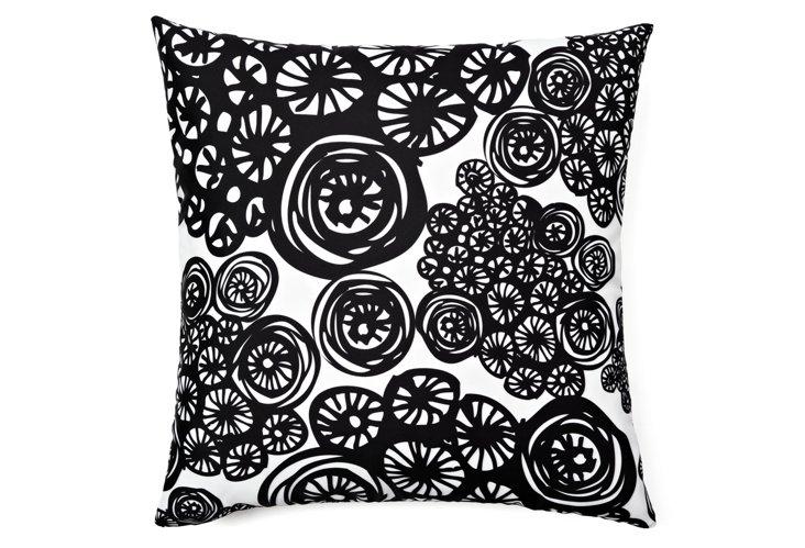 Circo Doodles 20x20 Pillow, Black