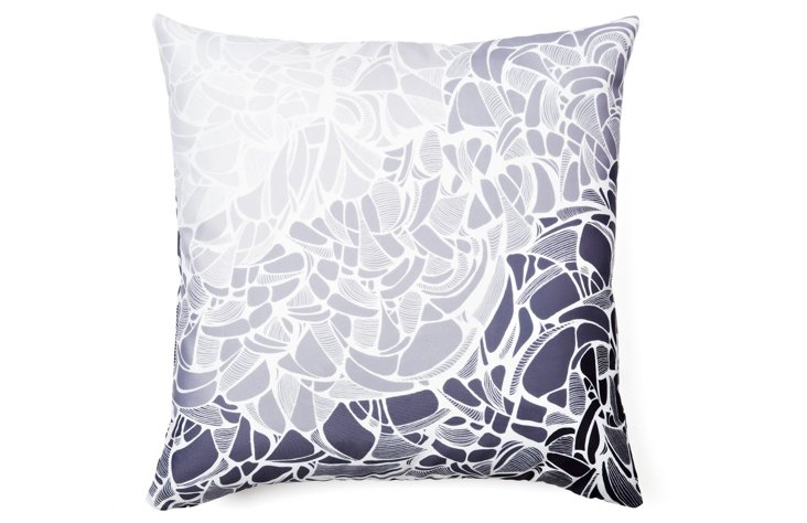 Fossil Stone 20x20 Pillow, Gray