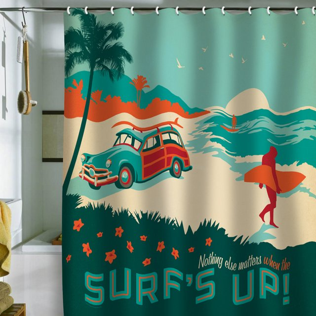 "Anderson ""Surf's Up"" Shower Curtain"