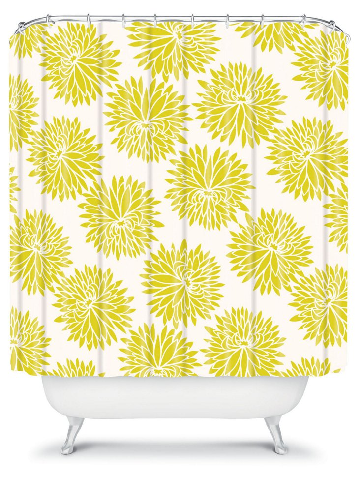 High Society Shower Curtain, Yellow