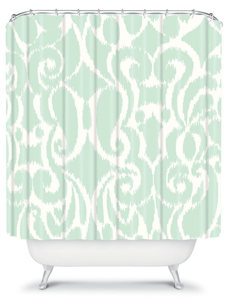Eloise Shower Curtain, Mint