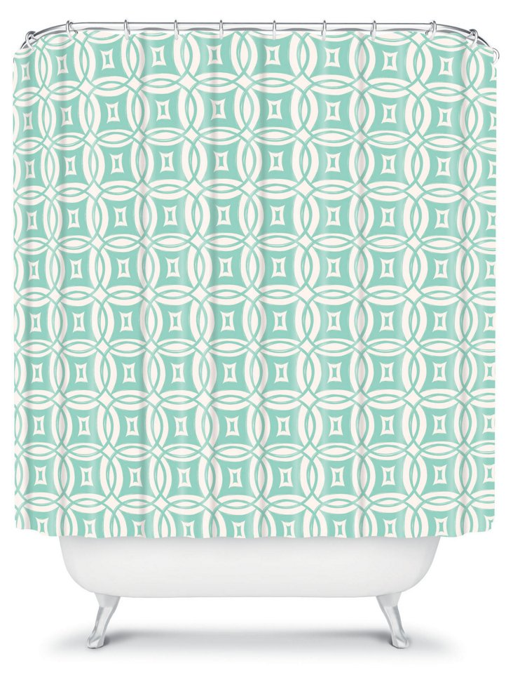 Desert Daydreams Shower Curtain, Mint