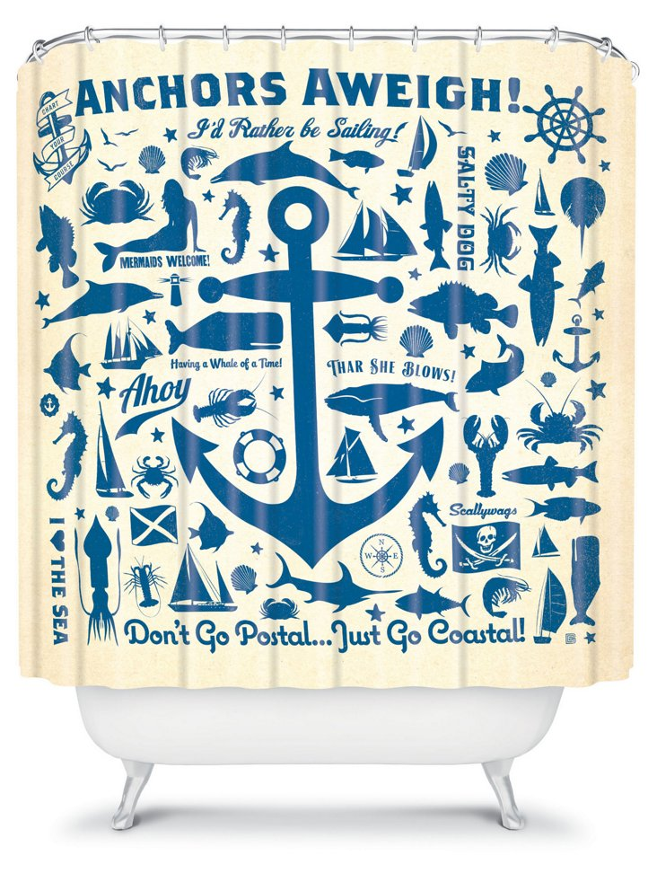 Anderson Anchors Away Shower Curtain