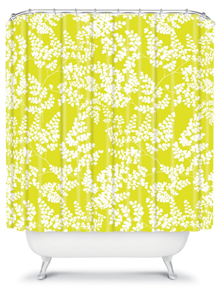 Spring 3 Shower Curtain, Yellow