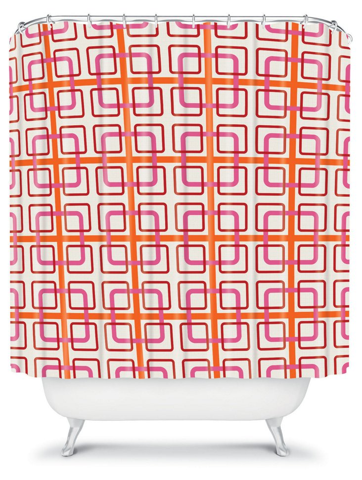 Miami Knot Shower Curtain, Pink
