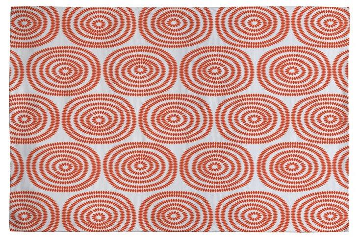 Vienna Swirls Woven Rug, Orange