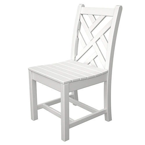 Chippendale Dining Side Chair, White