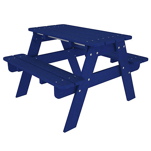 Kids' Picnic Table, Pacific Blue