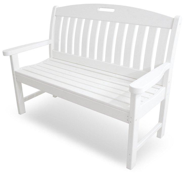 Nantucket  Bench, White