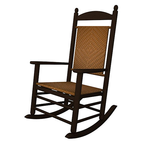 Jefferson Woven Rocker, Mahogany/Tigerwood