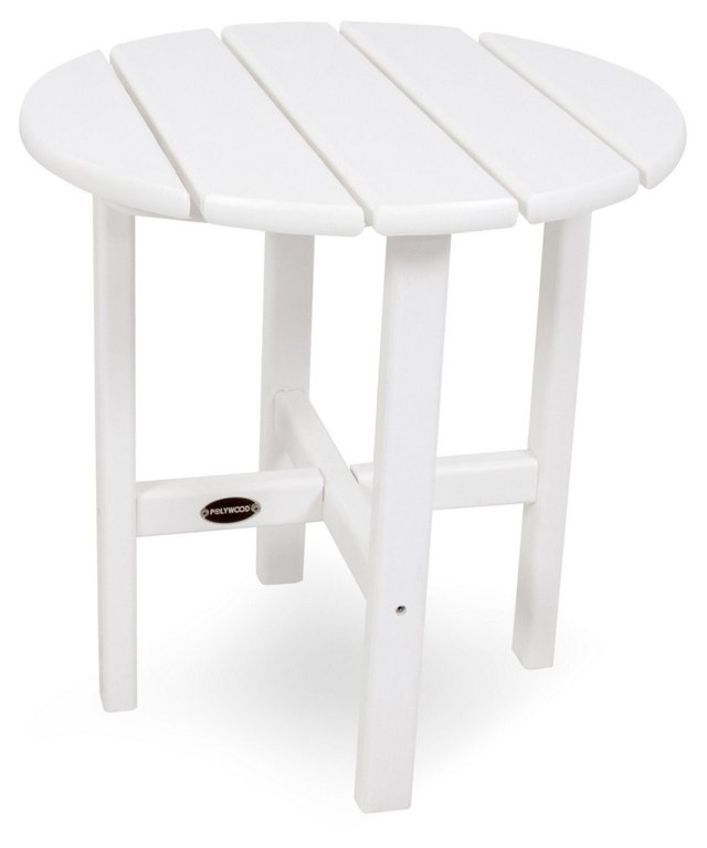 Classic Side Table, White