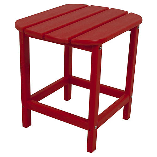 South Beach Side Table, Red