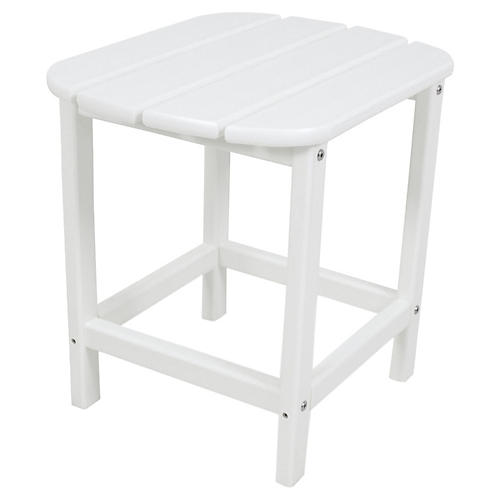 South Beach Side Table, White