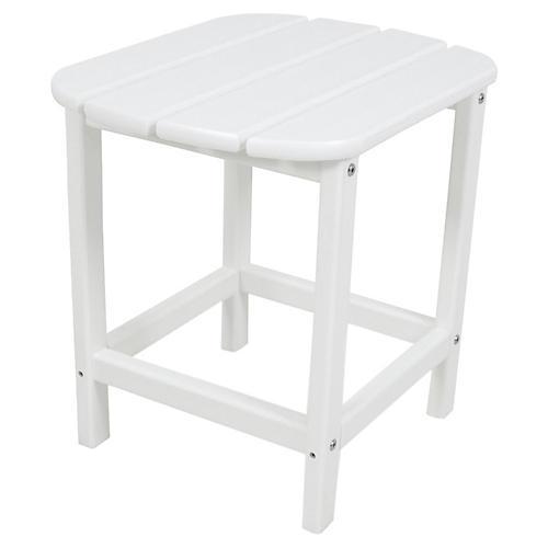 South Beach Side Table, White