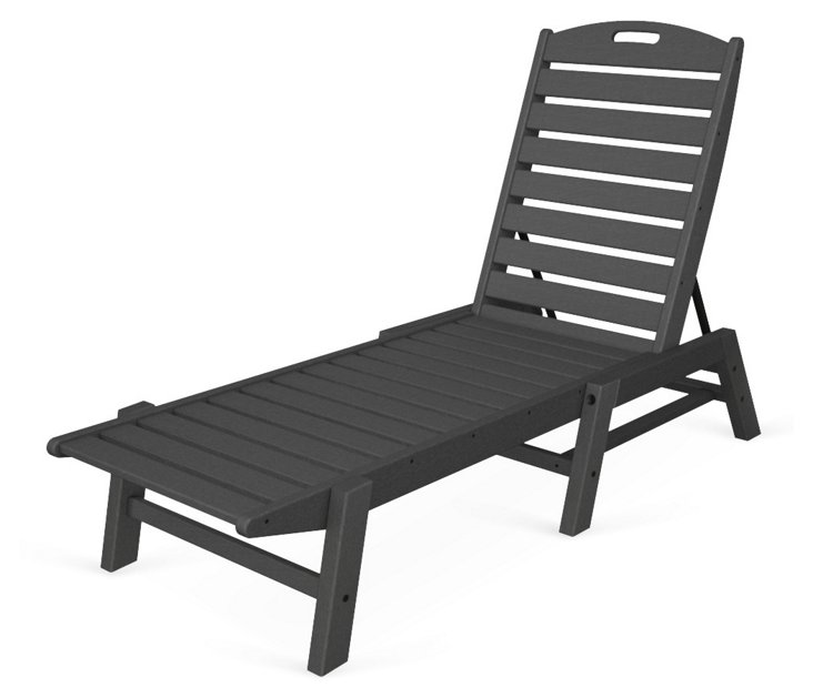Nantucket Stackable Chaise, Slate Gray