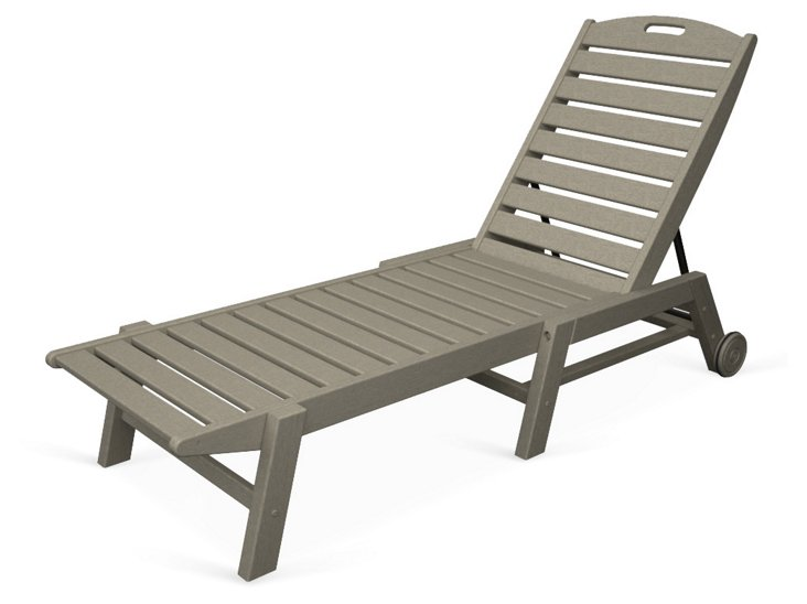 Nantucket Stackable Wheeled Chaise, Sand