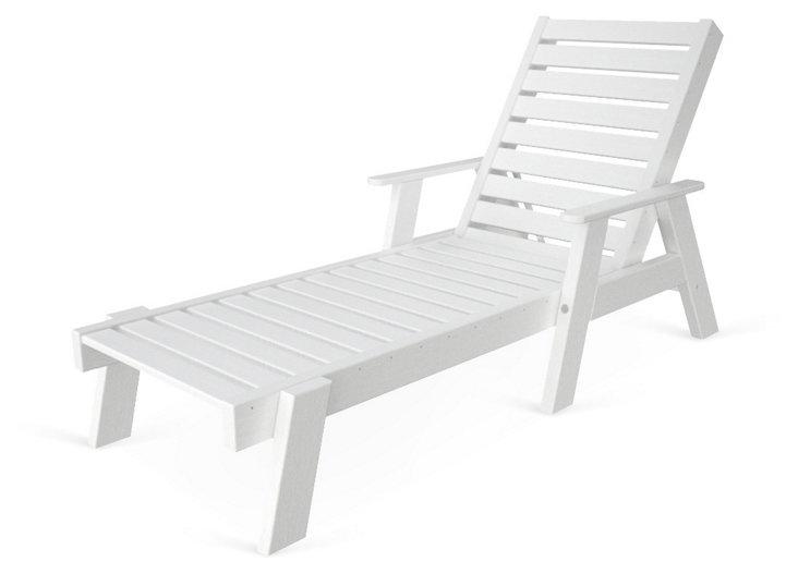 Cape Cod Chaise w/ Arms, White