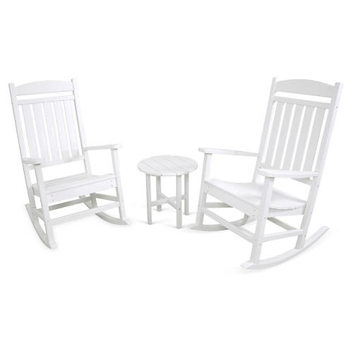 Ivy Terrace 3-Pc Rocker Seating Set, White