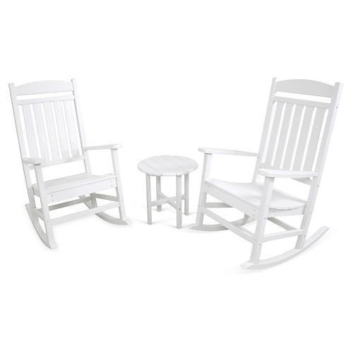 Ivy Terrace 3-Pc Rocker Seating Set, White
