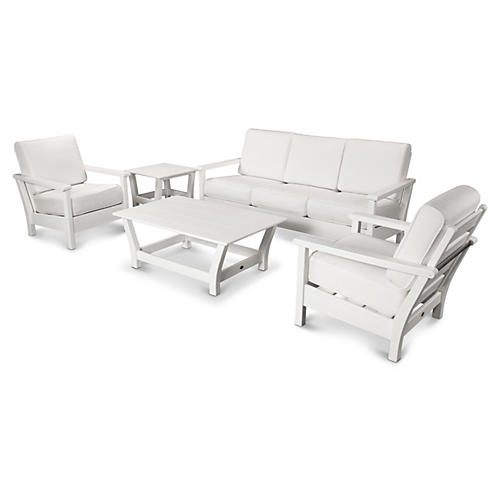 Harbour 5-pc Conversation Set, White