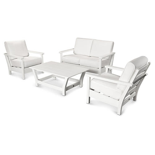 Harbour 4-Pc Living Set, White