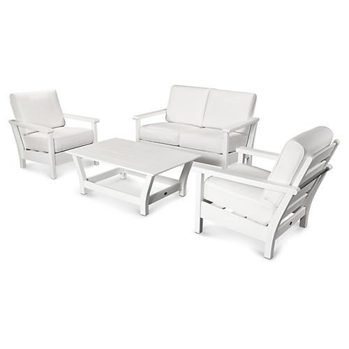 Harbour 4-Pc Living Set, White