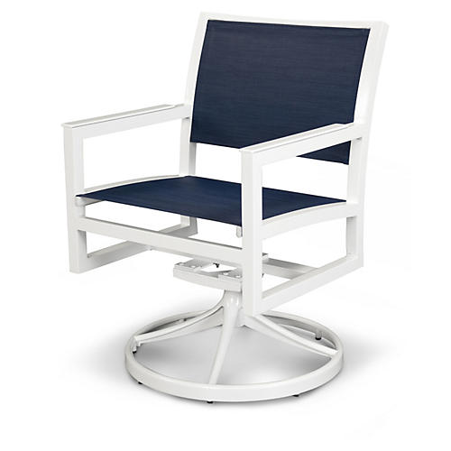 Trex Cube Swivel Rocker, Navy/White