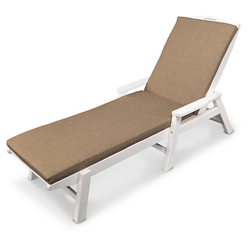Nautical w/ Arms Chaise, Tan