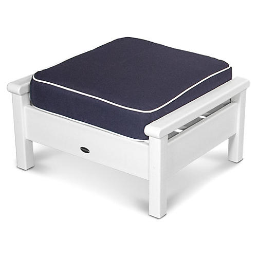 Harbour Deep-Seating Ottoman, Navy/Tan