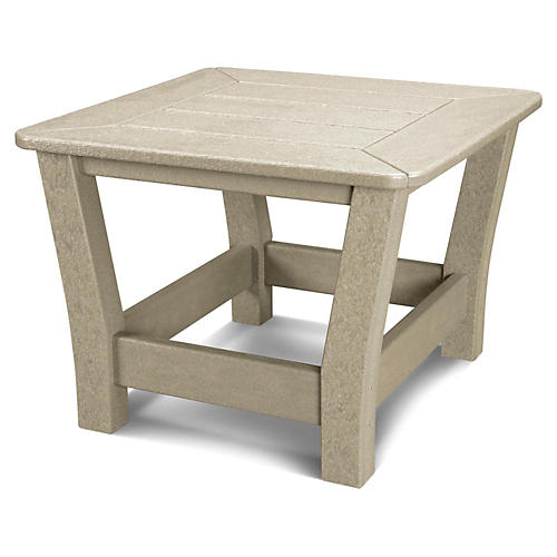 Harbour Slat Side Table, Sand