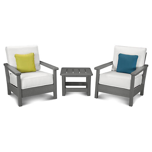 Harbour 3-Pc Seating Set, Natural/Gray