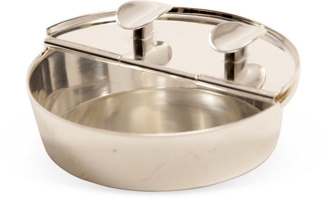Nickel Flip-Top Ashtray
