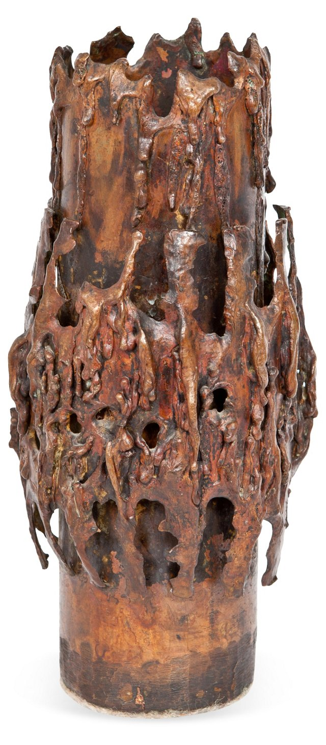 Cast Bronze Vase, Small