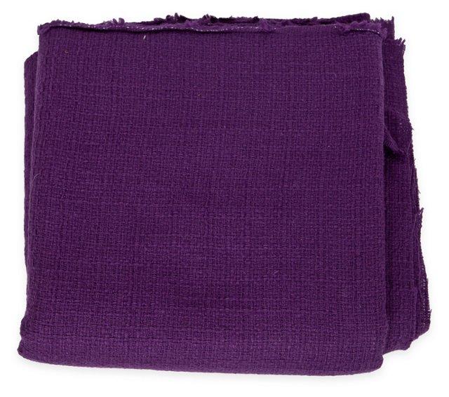 Textured Purple Woven Wool, 3.25 Yds