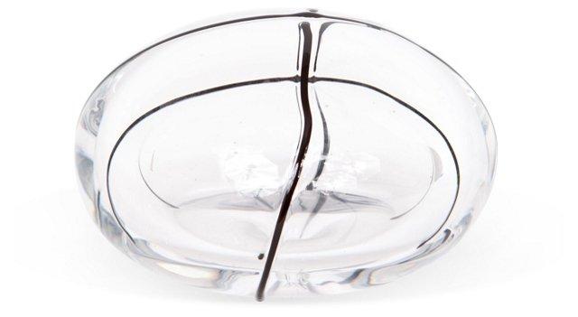 Handblown Glass Bubble w/Cross