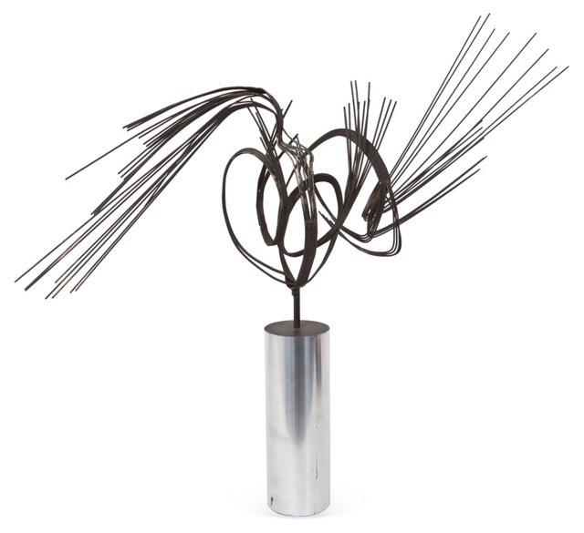 Black Wire Sculpture