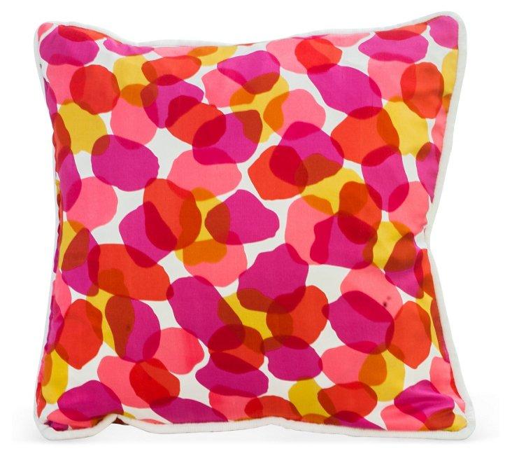 Abstract Petal Print Pillow