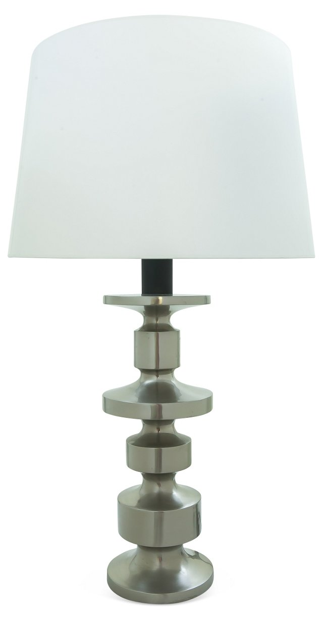 Stainless Steel Column Table Lamp
