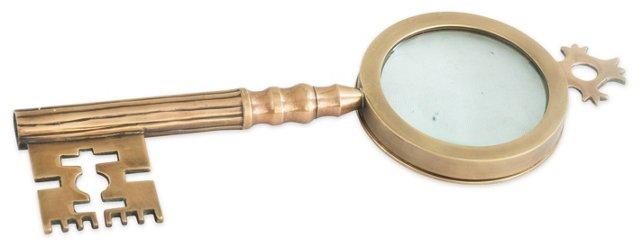 Skeleton Key Magnifying Glass