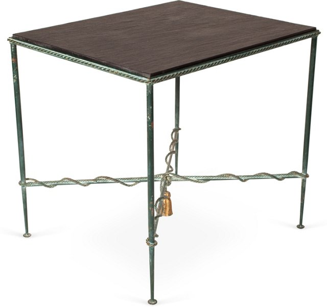 French Neoclassical-Style Iron Table