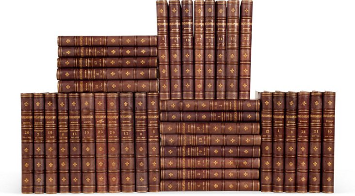 19th-C. French Encyclopedias, Set of 38
