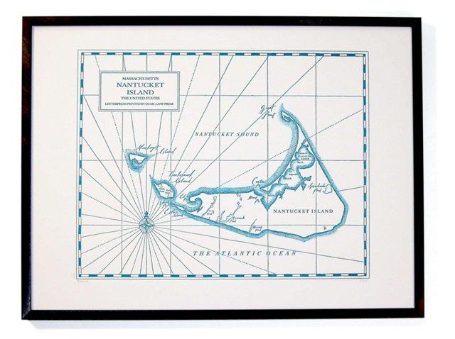 Nantucket Map Print