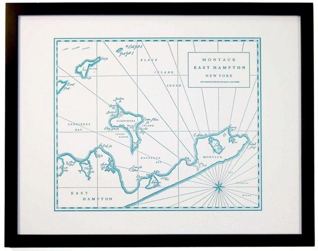 Montauk, East Hampton, NY Map Print