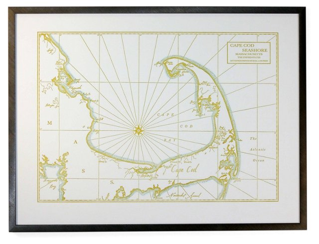 Map of Cape Cod Bay & Seashore