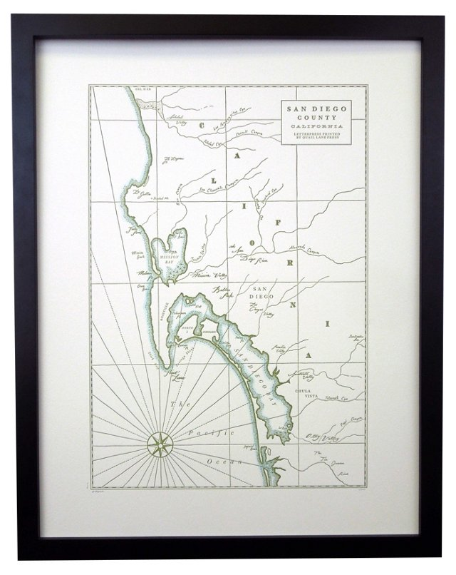 Map of Historic San Diego