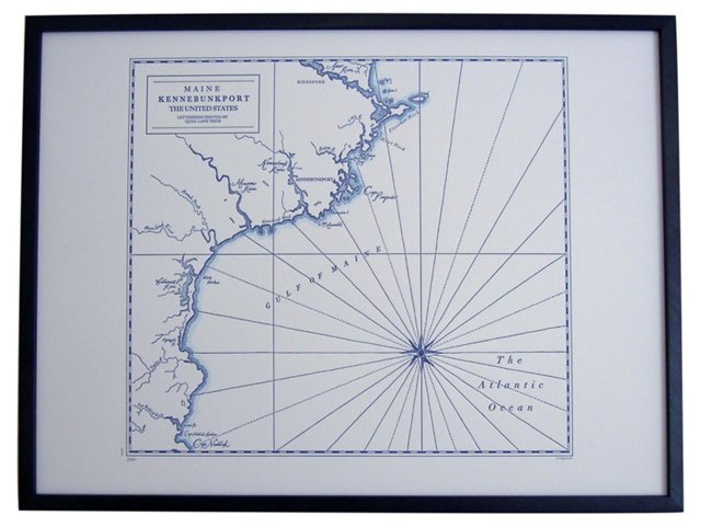 Map of Kennebunkport, Maine